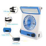 Lâmpada de mesa portátil LED 17W USB Charging Multi-Function Fan
