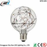 LED-Birnen E27 LED beleuchtet der Weihnachtszeichenkette G95 Lampen Feuerwerk-Heizfaden-Retro Weihnachtsdekor-Licht Stern-sternenklarer Himmeledison-LED