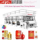 Máquina xyra-850 de alta velocidad paquete de cerveza Flexo línea de impresión