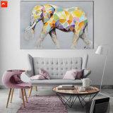 만화 귀여운 동물성 다채로운 코끼리 화포 유화