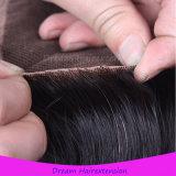 Волосы девственницы выдвижения человеческих волос бразильские с закрытием шнурка