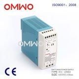 Fuente de alimentación del módulo de conmutación del programa piloto de la salida LED del carril del estruendo Wxe-Mdr40-12