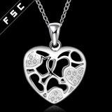 卸し売り方法宝石類の女の子のための銀によってめっきされる中心の吊り下げ式のネックレス