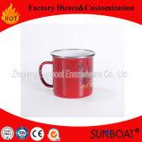 Caneca do esmalte de Sunboat com utensílios de mesa antigos chineses do copo bebendo do copo feito sob encomenda da água do tamanho