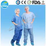 Los pijamas pacientes de Disposabale, quirúrgico médico no tejido friegan juegos