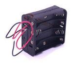 sostenedor de batería 8AAA con los terminales de componente de alambre rojos/negros