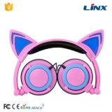Наушники конструкции уха кота освещения способа СИД прямой связи с розничной торговлей фабрики