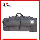 Мешок багажа большой емкости полиций катят чернотой, котор
