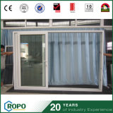 Storm Proof UPVC Double Panes Isolation du son Portes coulissantes
