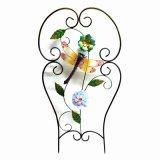 Rete fissa decorativa del metallo all'ingrosso con il fiore del panno e di vetro macchiato