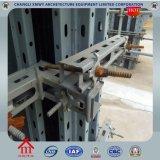 Muro de cimento que dá forma ao molde do aço dos sistemas