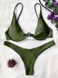Traje de baño simple encantador del bikiní de la zambullida de señora Push del desgaste de la natación para arriba