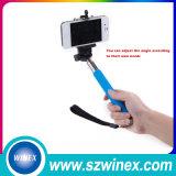 Mini palillo sin hilos de Monopod Selfie del teléfono móvil de la cámara 2015, Selfie-Palillo de Bluetooth