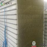 El panel de emparedado de las lanas de roca de la prueba de fuego de China para la pared