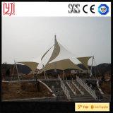 Cubierta a prueba de viento de alta resistencia del pabellón de Constructuon de la membrana extensible del PVC PVDF PTFE