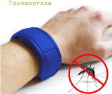 Bracelete ao ar livre natural personalizado do Repellent do mosquito do neopreno da cor