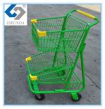 O trole dobro verde da compra da cesta com Bom-Usa-se