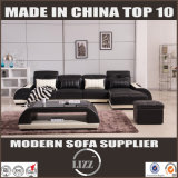 Sofá ajustado do lazer de Glas do sofá secional em forma de L moderno