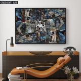 petróleo Paitning del extracto del arte de la pared de la textura 3D para la decoración