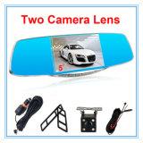 двойная камера автомобиля объектива 1080P с индикацией 5 дюймов