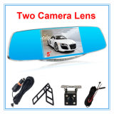 5 Zoll-Bildschirmanzeige-Doppelt-Objektiv-Automobil mit Auto-Kamera