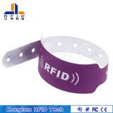 Wristband de papel sintetizado modificado para requisitos particulares del color RFID para la identificación del bebé