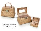 Caja de Moda Manufactura de Joyería de Cocodrilo Marrón Estilo