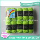 100% Coton Croix Tissage point Fil de laine à tricoter Fils