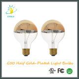De glod-Geplateerde Gloeiende Lamp van Stoele G50 7W half