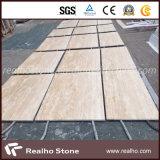 Teja de mármol de mármol travertino beige para revestimiento de pared y revestimiento de suelo