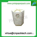 Boîte-cadeau ronde de luxe faite sur commande de fleur de carton de modèle