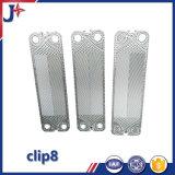 Plaque d'échangeur de chaleur de plaque de Laval Clip8/Clip6 d'alpha pour la piscine