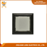 Commutateur de bouton poussoir en plastique carré électrique Pbs-008 blanc