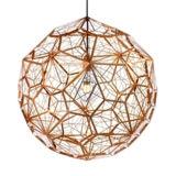 lâmpada inoxidável de suspensão do pendente da forma do ninho da iluminação do cobre 2017modern para a decoração do hotel