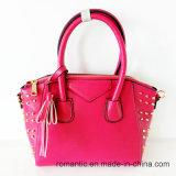 La signora promozionale PU del progettista rivetta le borse (LY05095)