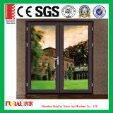 Puerta de aluminio modificada para requisitos particulares del marco del color