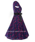 Blaues Frauen `S Restonic Kleid