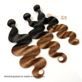 Glücks-Haar Ombre brasilianische Karosserien-Wellen-Haar-Webart 1b 30 Brown