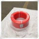 Correas de transmisión redondas de potencia de la correa/10m m del poliuretano liso anaranjado de la PU
