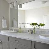 Specchio decorativo dell'argento dello specchio della parete per la stanza da bagno/l'uso di ginnastica