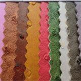 Cuero del PVC de la avestruz para los menús de los bolsos