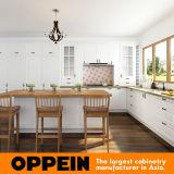 Oppeinの島Op17-PVC02が付いている白いL字型食器棚