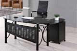 Mesa de escritório de madeira superior de vidro da tabela do gabinete de extensão de Larg (HX-4103)