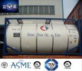 Conteneur de réservoir en acier inoxydable 20FT 26000L pour aliments comestibles, pétrole, produits chimiques, carburant