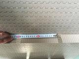 Convoyeur à bande modulaire en plastique de plaque plate avec des serre-câbles de cloison