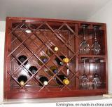 Стойка индикации вина металла сбор винограда с Tabletop показывая шкафом хранения