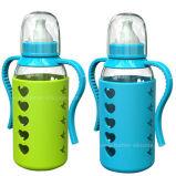Luva de vidro do frasco de bebê do silicone antiderrapante BPA-Livre do costume