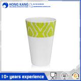 Taza plástica de consumición impresa insignia de encargo de la melamina