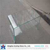 Verre trempé courbé / trempé pour meuble / table / verre de construction