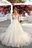 Beaded роскошное самомоднейшее платье венчания